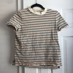 Madewell Cropped Stripe Shirt